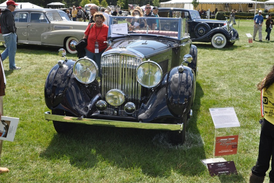 This beautiful Darby 4-¼ liter Bentley, with paint and interior by ARI, shows delicate work to make it a splendid show car. Owner John Faigle brings it out for its exhibit debut at FFCC after a 10-year process.