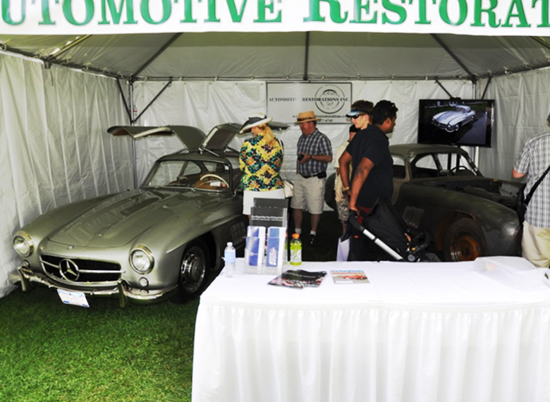 Our Tent: Right, 300SL prototype #003 in process, left 300SL # Completed in our shops and awarded at Greenwich in years past