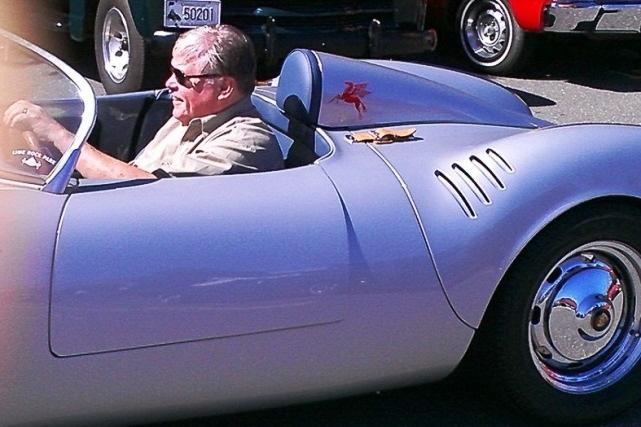 Al Baran in the Porsche
