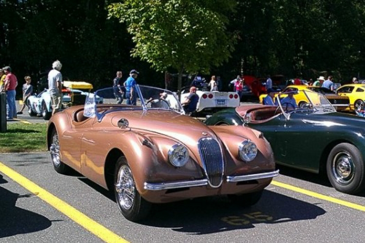 Andy Bennenson with XK120