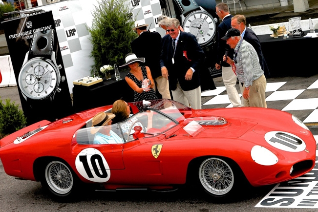 Ed Herrmann, Murray Smith and Peter Sachs share a laugh and the Joy of this superb Ferrari Testa Rosa taking the win in Class 20, No Holds Barred, Victory at all costs.
