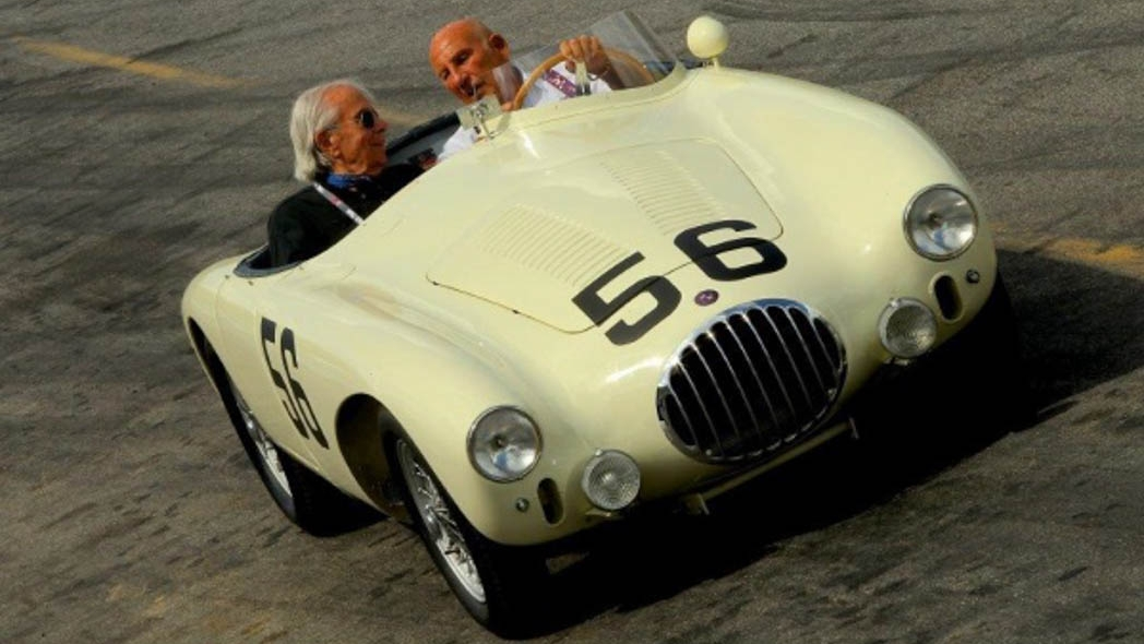 Sir Sterling takes Fred for a ride in an OSCA