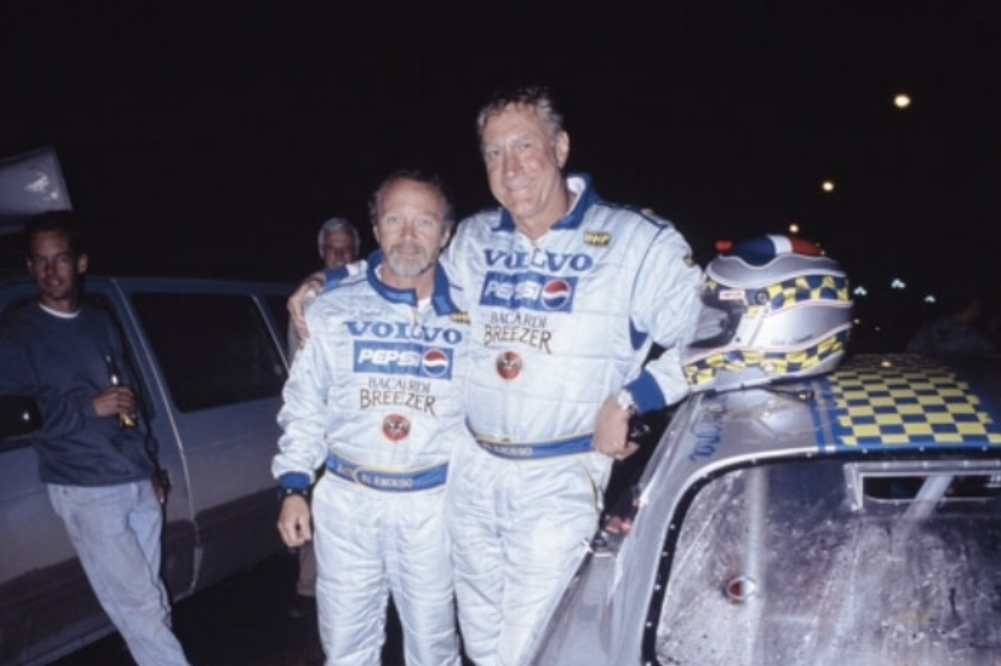 Bill and Co-Piloto Fred Gunther after a hard and successful days run