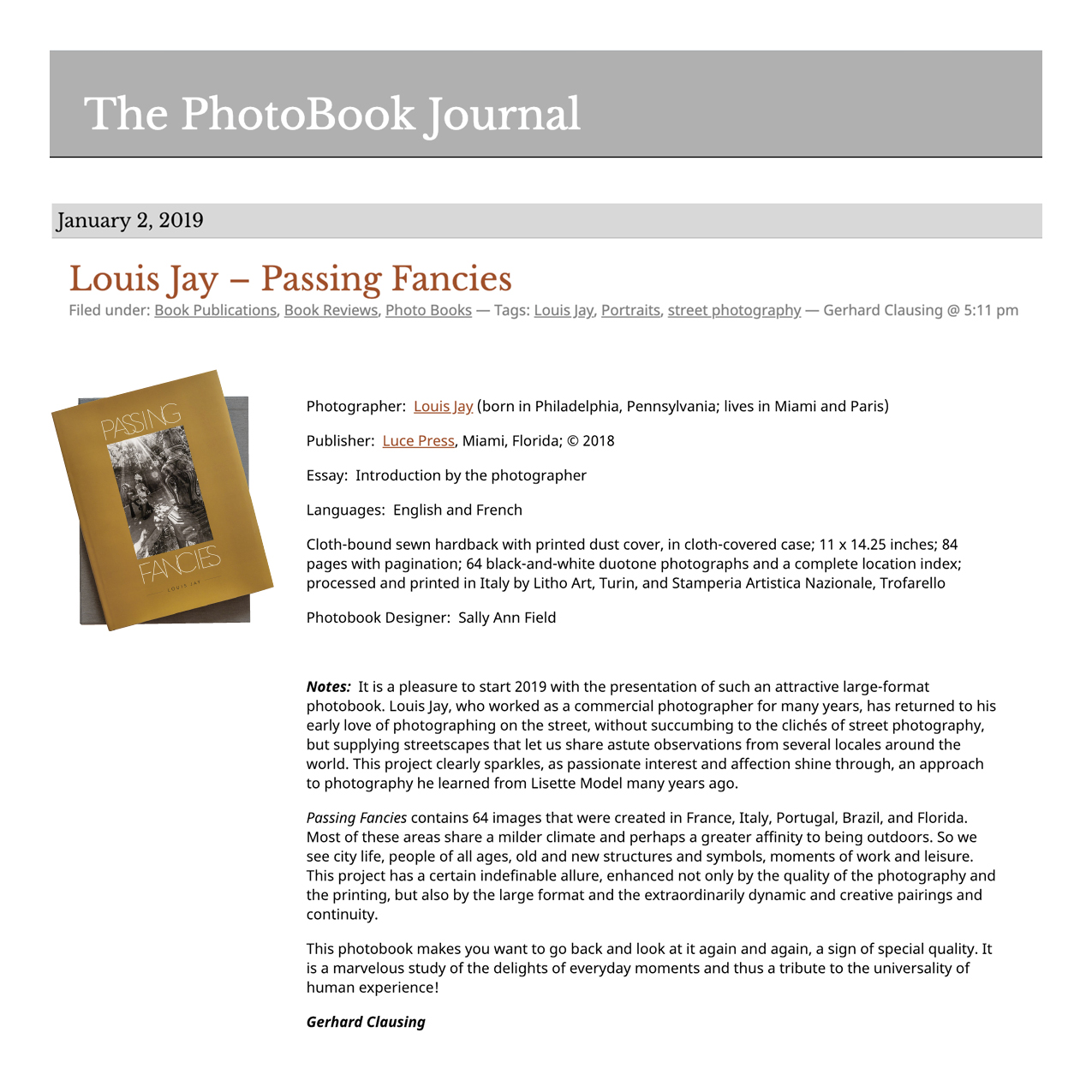 The PhotoBook Journal Review Press Clipping.jpg