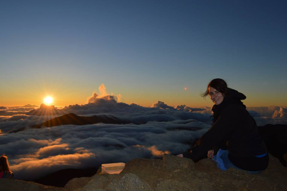 This was a particularly embodied moment. I still remember the chill of the morning, the awe for this incredible sight, the joy of feeling on top of the world. Maui's mountain was full of other people, but I barely noticed them while this was before my eyes and the sun began to wash over my face.