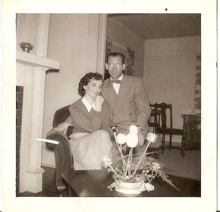 My Grandma and Grandpa Tutschek, married in Canada