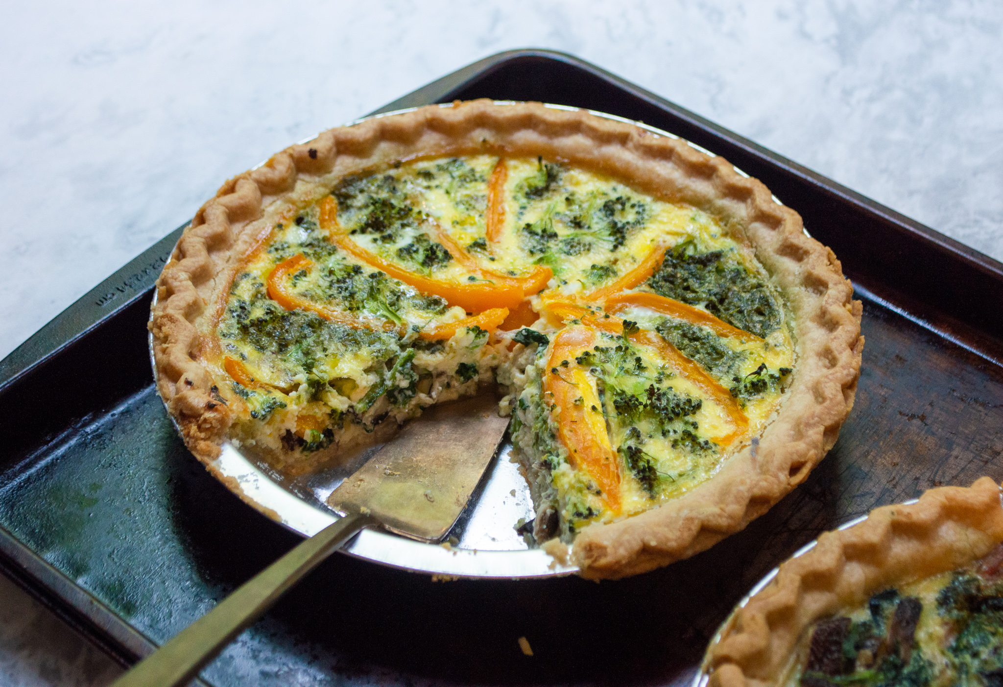 quiche full of leftovers