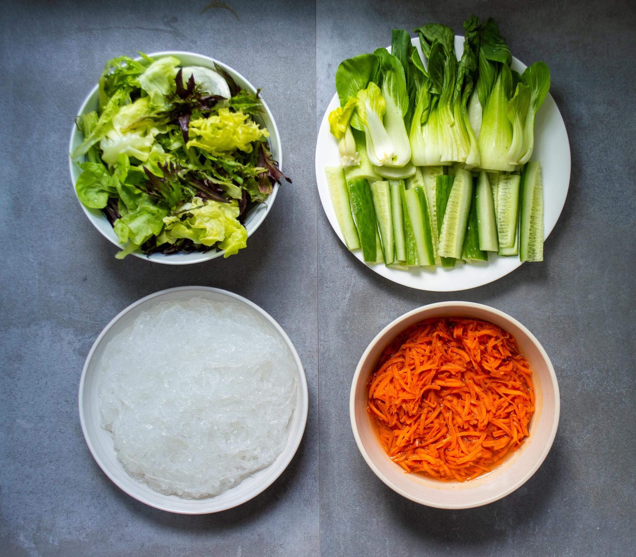 rescued vegetables for summer rolls