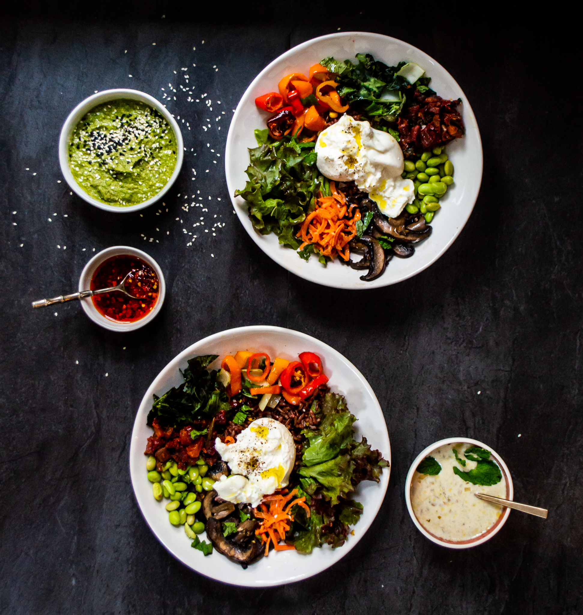 Pretty sure that the burrata is balanced by all those green vegetables, don't you think?