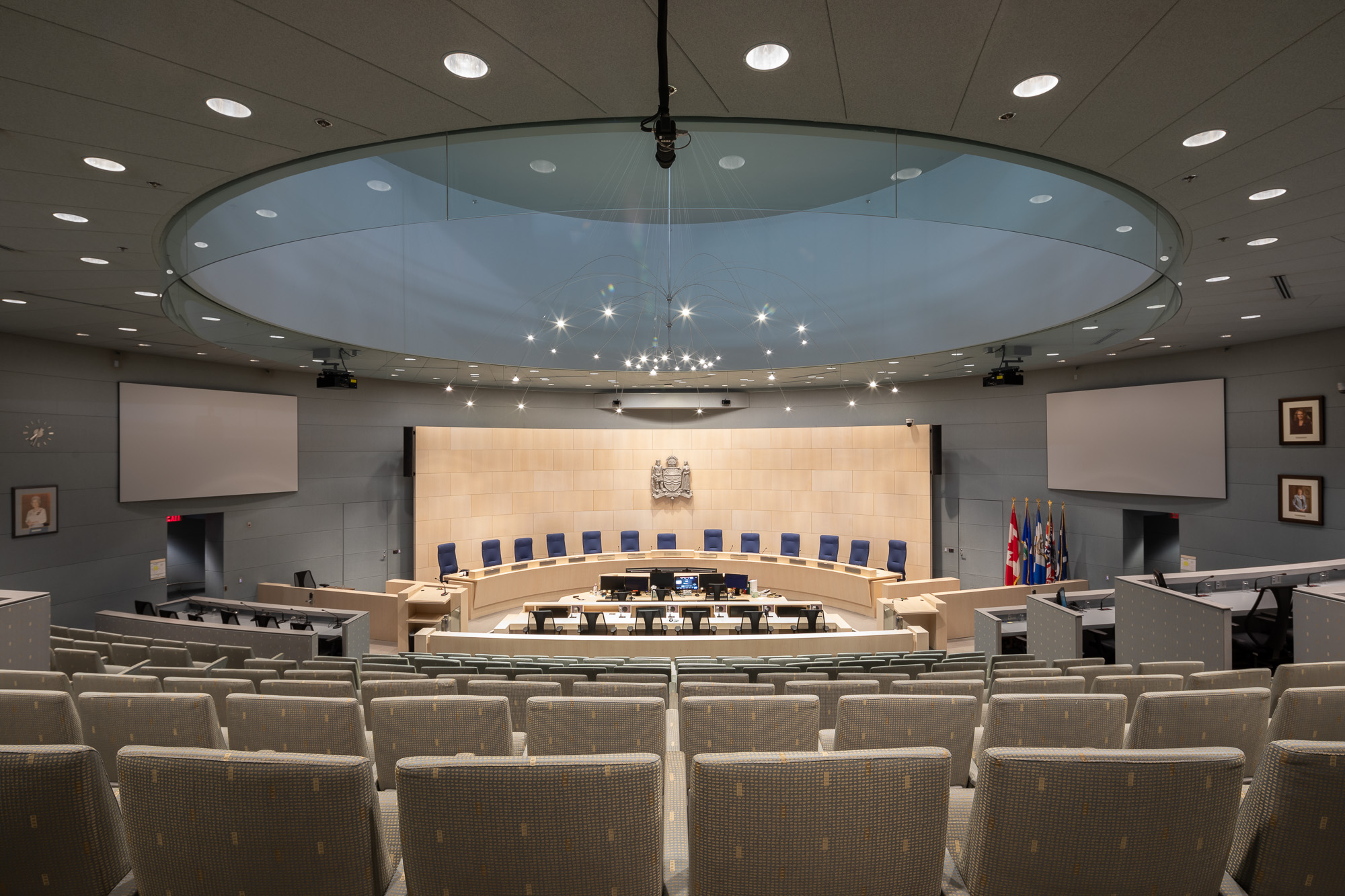 City of Edmonton Council Chambers Millwork