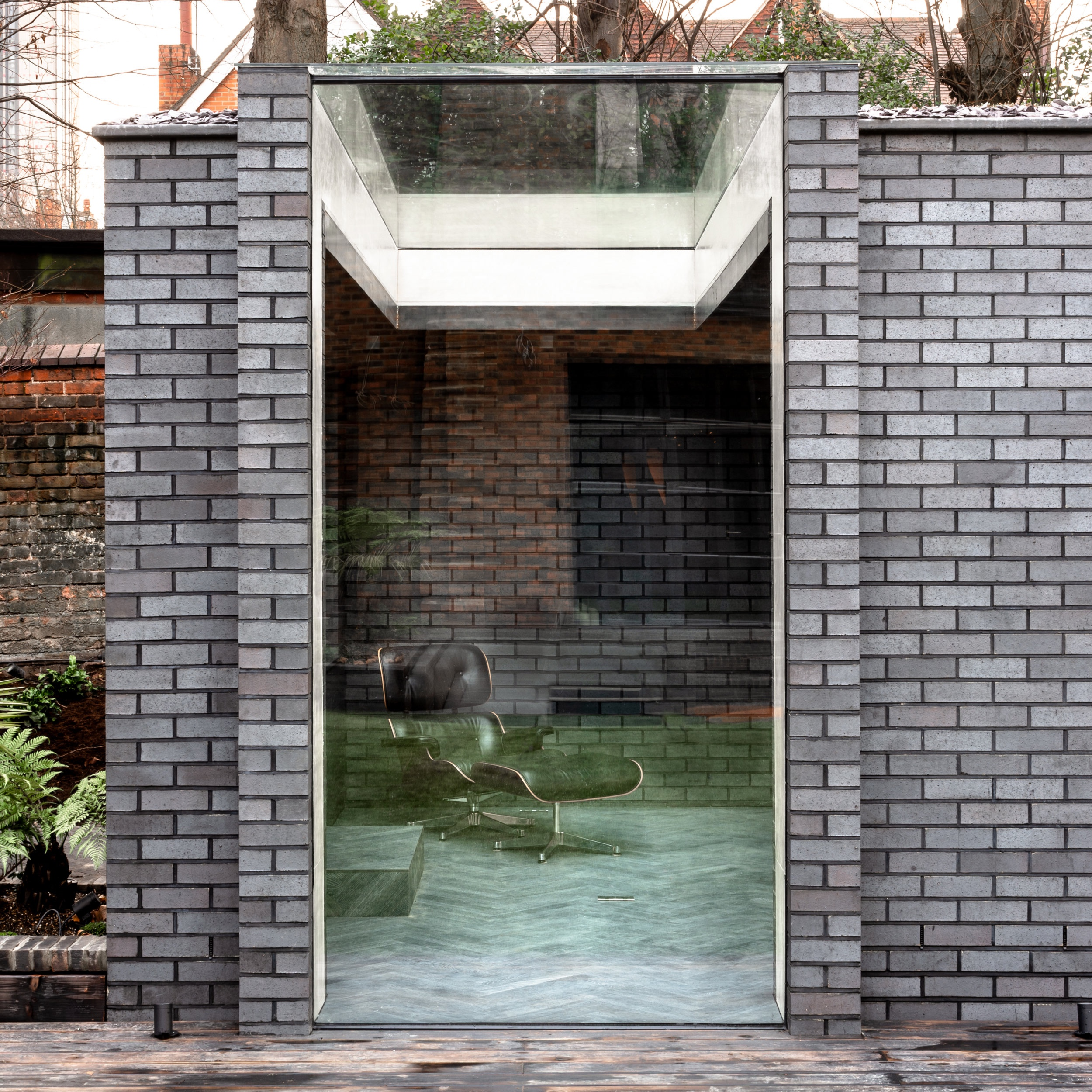 Yoga dojo   Designed within householder permitted development rights and within the wider context of the whole landscaping design, the Yoga Dojo is a standalone garden pavilion at the end of a planted walkway