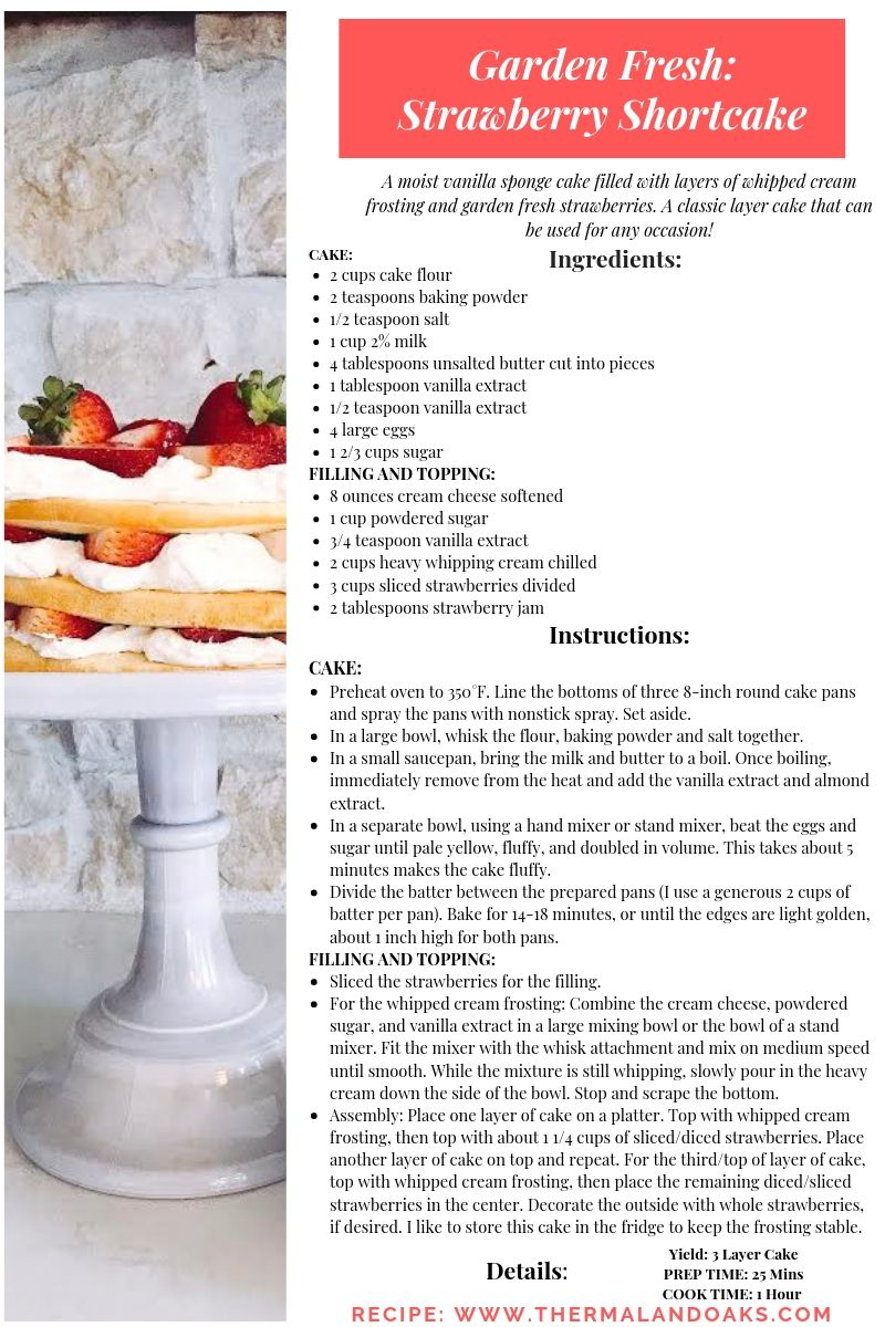 Strawberry Shortcake #strawberries, #strawberryrecipe, #farmfresh, #recipes, #farming, #farmtofork, #farmtotable, #harvest, #organic, #gardenrecipes, #summergarden, #summercrop, #strawberryshortcake
