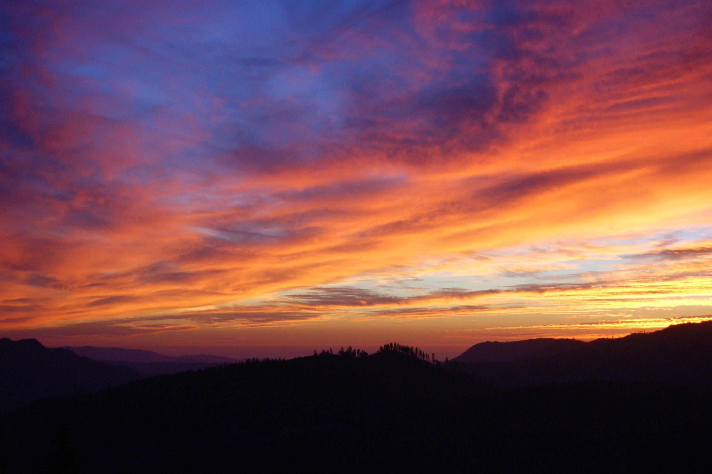 yosemite sunset california travel