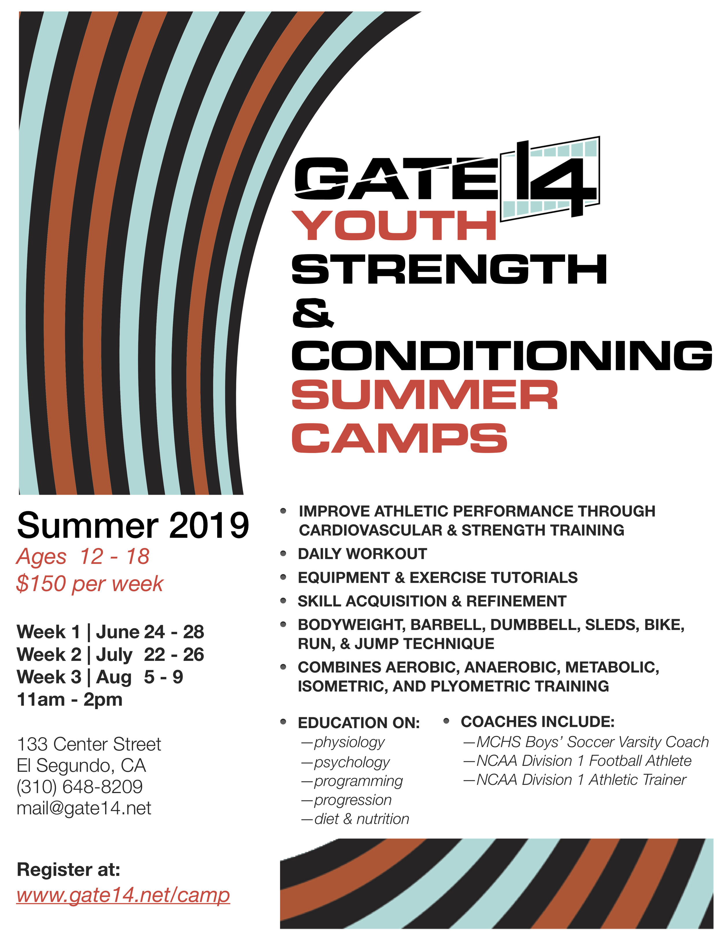 Youth Strength & Conditioning Summer Camp — Gate 14 Fitness