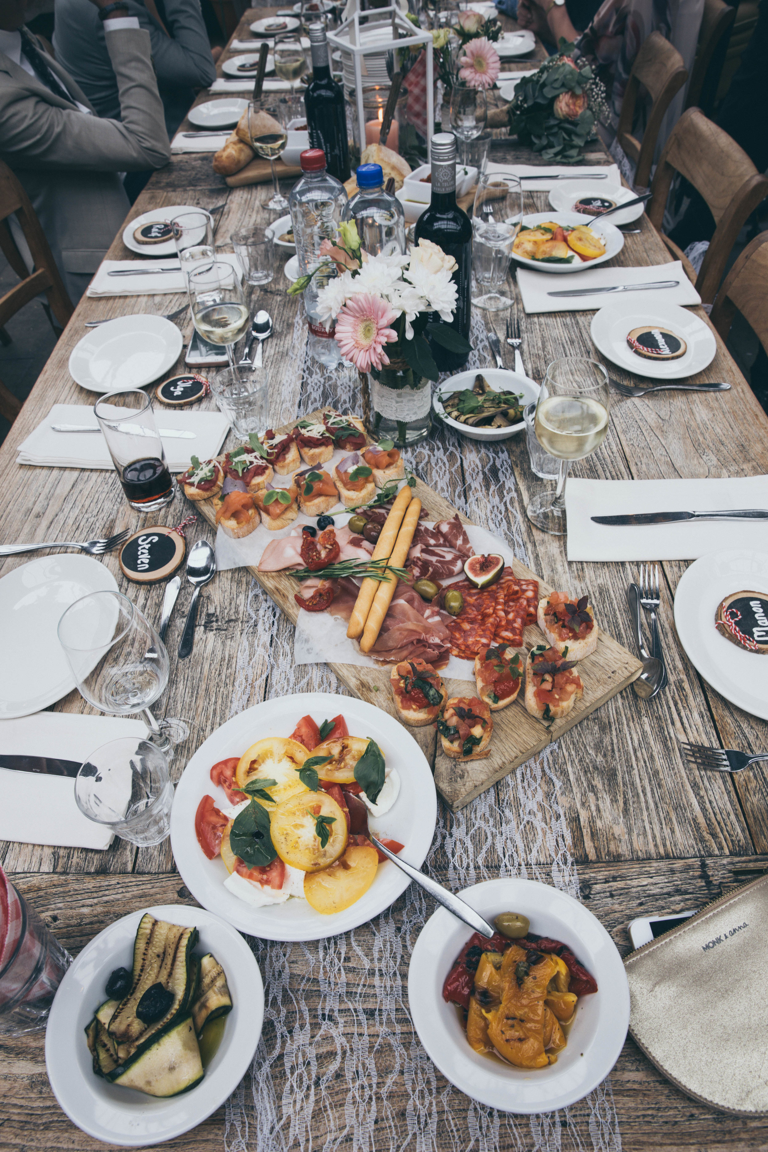 Table setting Charcuterie