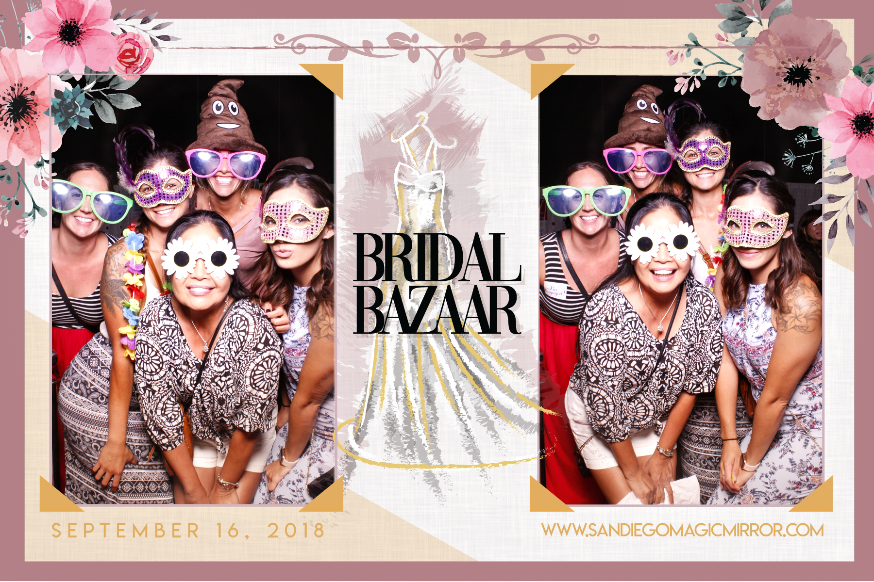 San Diego Magic Mirror Photo Booth at The Bridal Bazaar Convention Center