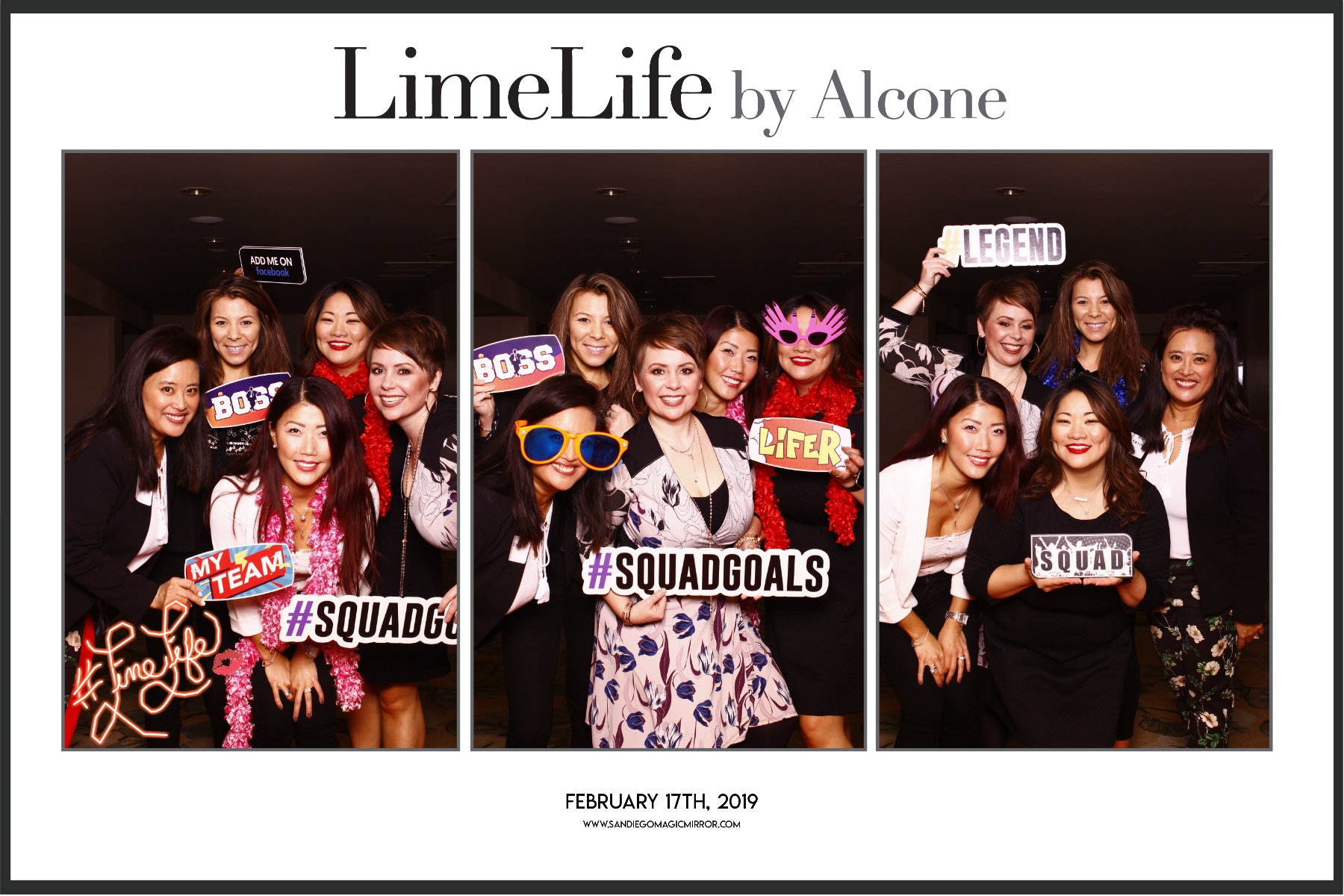 Magic Mirror Photo Booth at LimeLife Westin Gaslamp Quarter