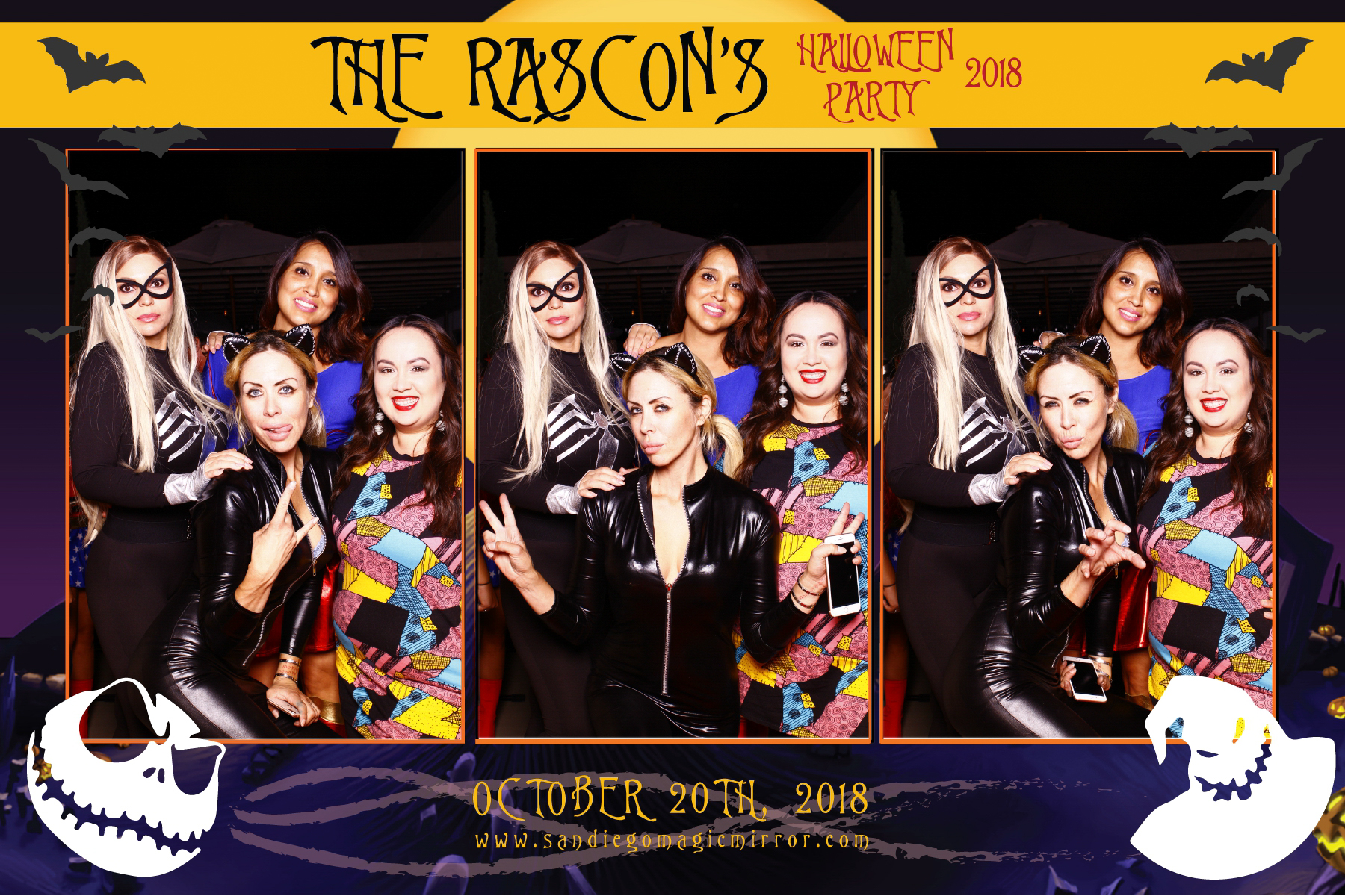 San Diego Magic Mirror Photo Booth Halloween Party