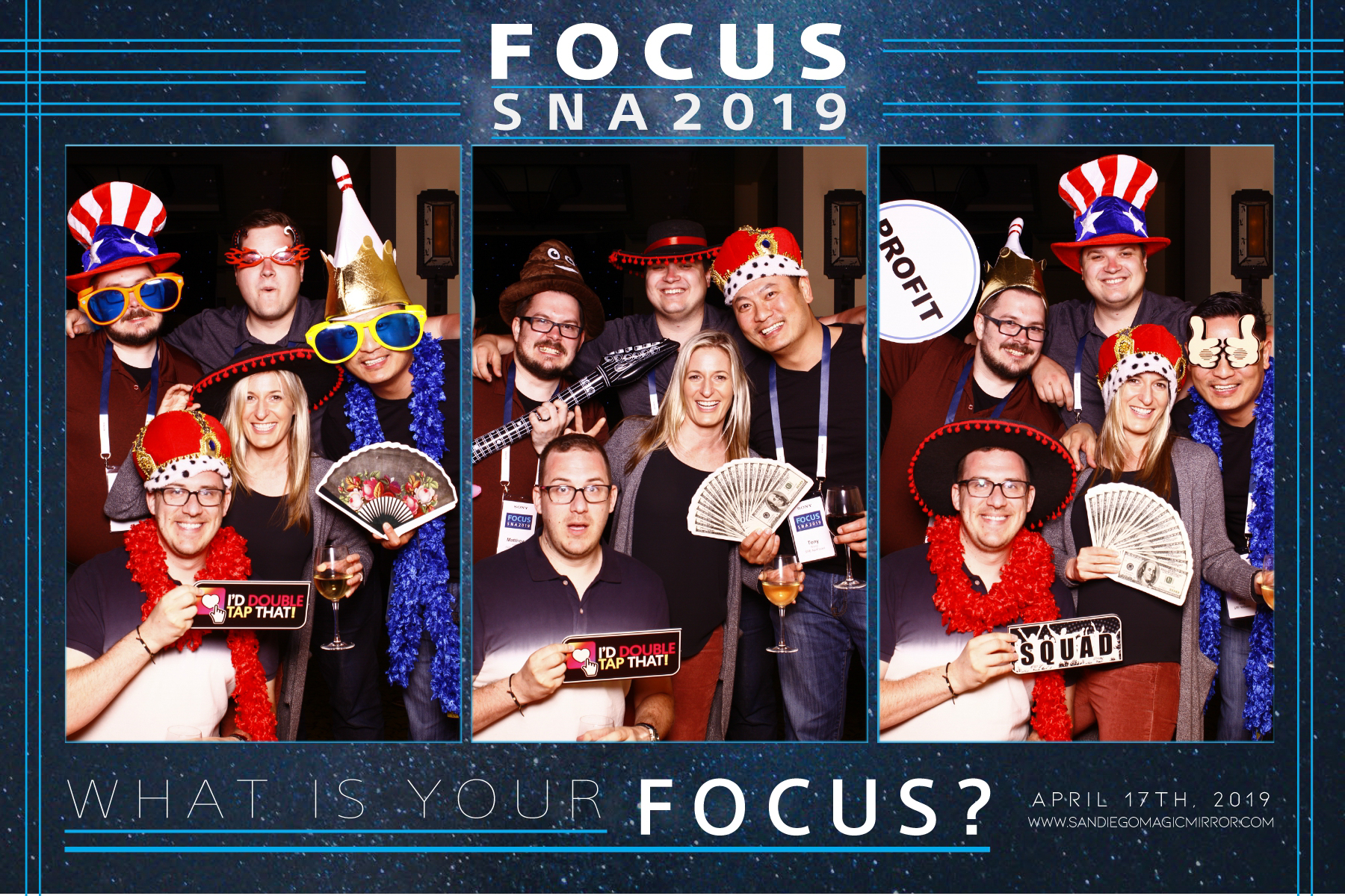 San Diego Magic Mirror Photobooth, SNA Focus 2019 by SONY in San Diego, CA