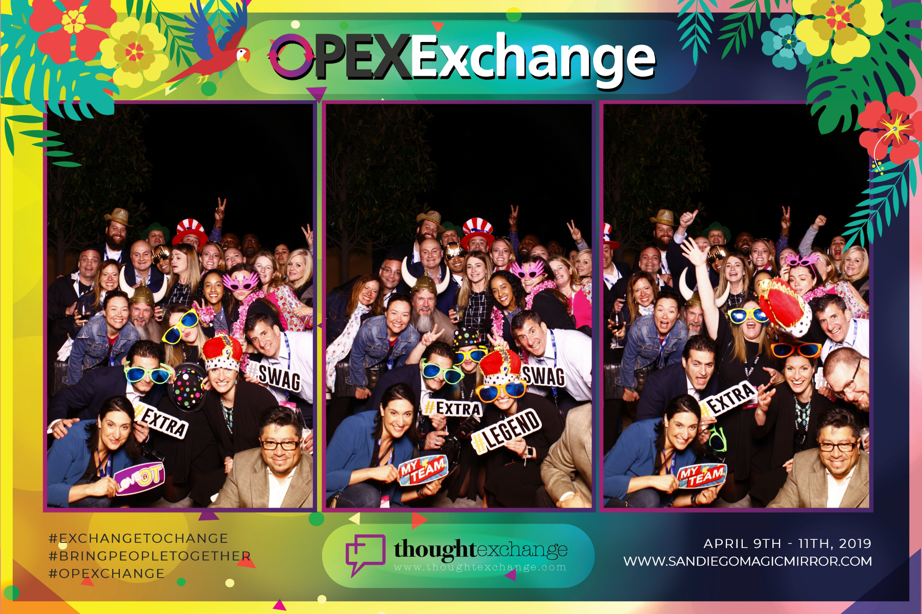 San Diego Magic Mirror Photobooth OPEX Exchange Conference Party at the Westin Inn in Carlsbad, CA 2019
