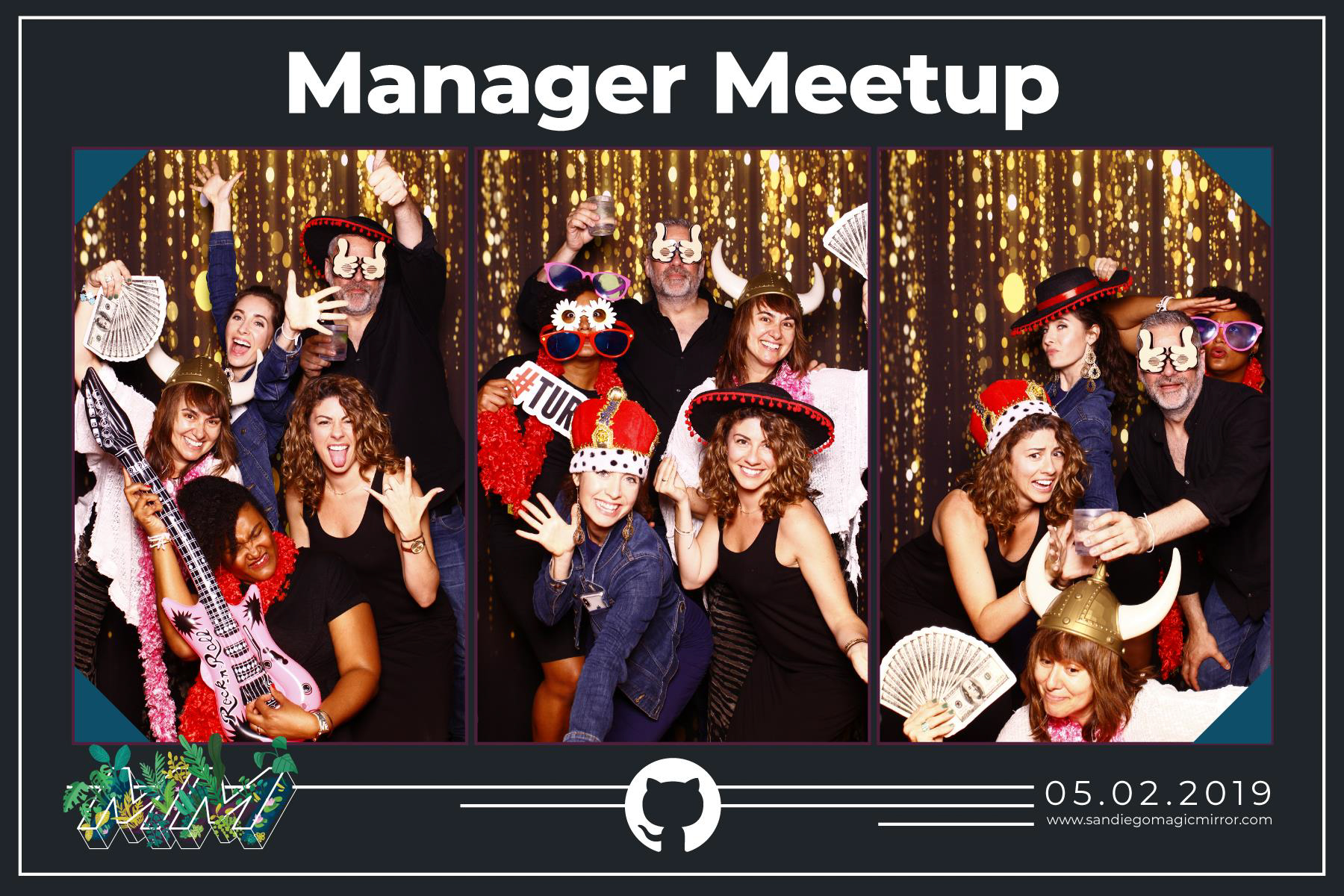 San Diego Magic Mirror Photo Booth Corporate Meetup