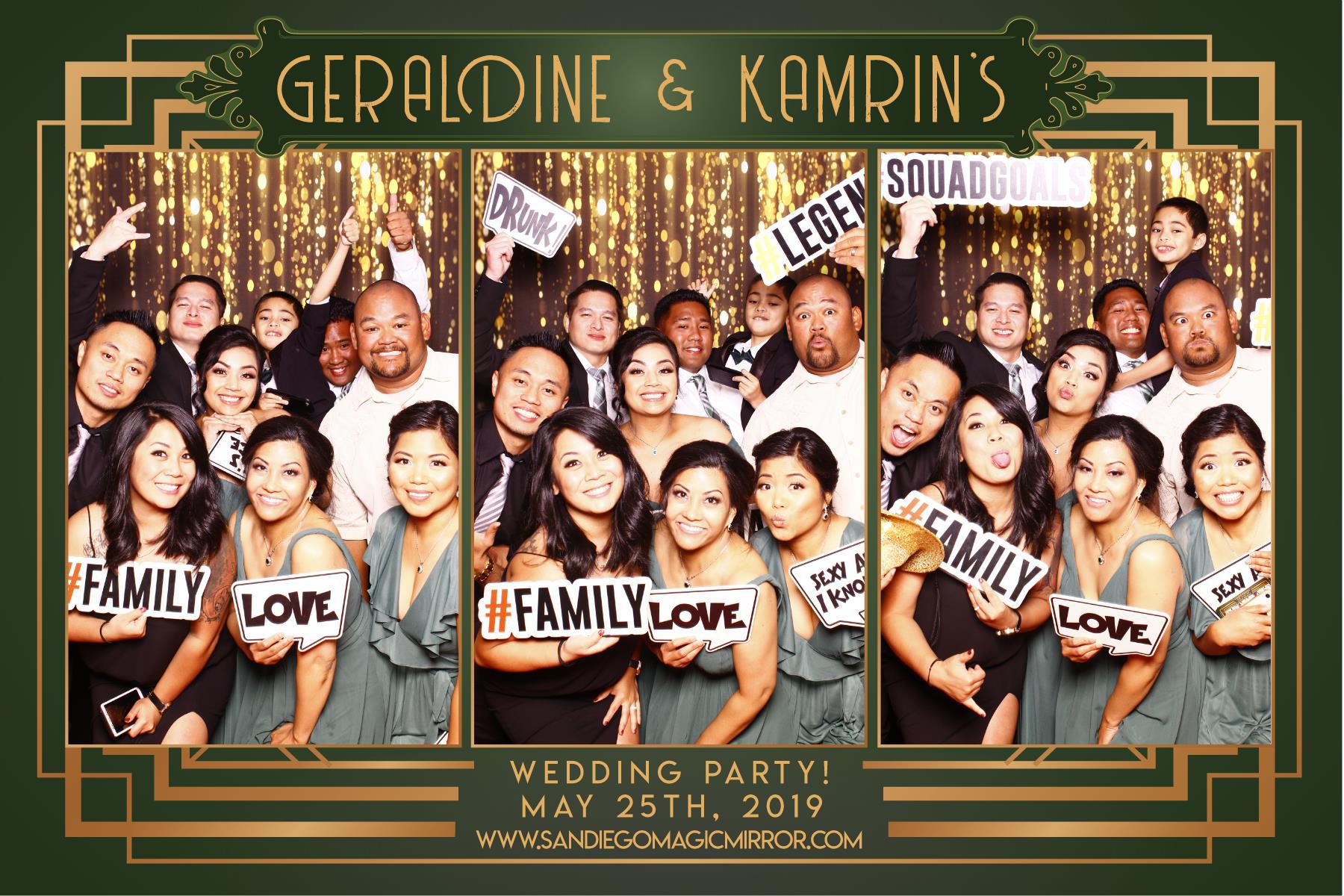 San Diego Magic Mirror Photo Booth Wedding at Green Gables Estate