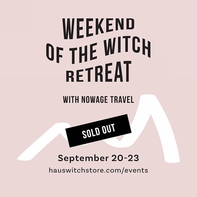 WAITLIST ONLY!!!! Totally blown away by the amazing response to this retreat! It, literally, sold out in hours after @hauswitch posted it and I've received so much positive feedback and excitement about the possibility of more in the future. This really tells me just how much people  are drawn to connecting with The Witch and each other. Please if you're interested, definitely sign-up for the Waitlist on the Retreats page. Link in profile. If we do offer another Weekend of the Witch this Fall, I'll send it out to this list first! And thank you, thank you for all the support. I'm feeling very grateful and can't wait to share this experience! ❤️#soldout #witch #retreat #salem