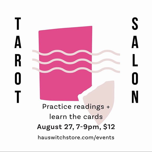 TONIGHT! And EVERY last Tuesday of the month for the past 3 years, which is so crazy to think about! My friend @yeswolfspirit and I started Tarot Salon at the @hauswitch store to offer a safe affordable space for the community to learn and grow magically together. And the fact that people are STILL showing up with new folks all the time speaks to just how powerful a connector Tarot can be - to ourselves and also each other. It can be so easy to get lost in our own internal turmoil (speaking directly as someone who gets lost a lot). If you live in the area or are passing through, I hope you'll drop in sometime to this truly special event. P.S. tonight we'll be exploring the 10 of Wands! #tarot #magic #witchcity #tarotreadersofinstagram #salem