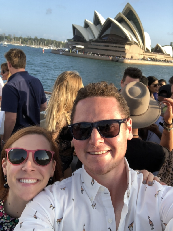 This photo was taken on New Year's Eve 2017 on a harbor cruise in Sydney, Australia. It was a night to remember for sure!