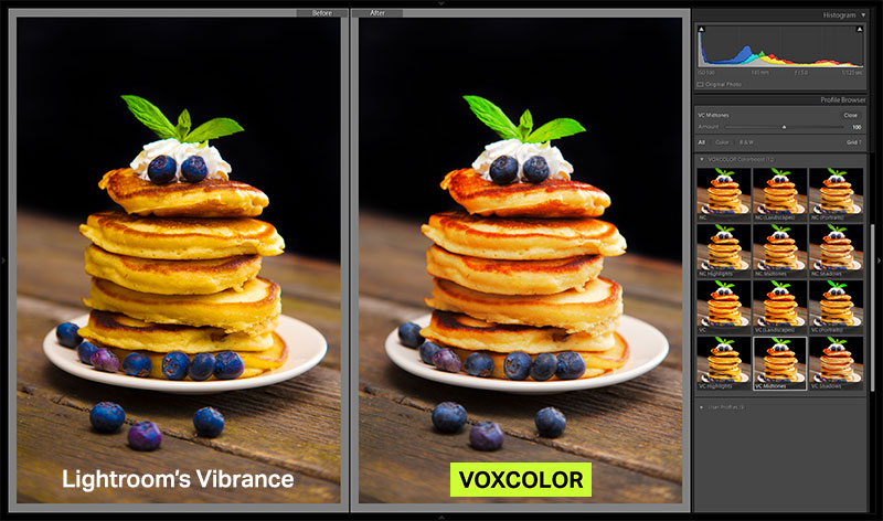 Deliciously vibrant. - Lightroom's vibrance can cause unwanted color shifts. VOXCOLOR Colorboost helps your photo retain natural colors even at higher settings.