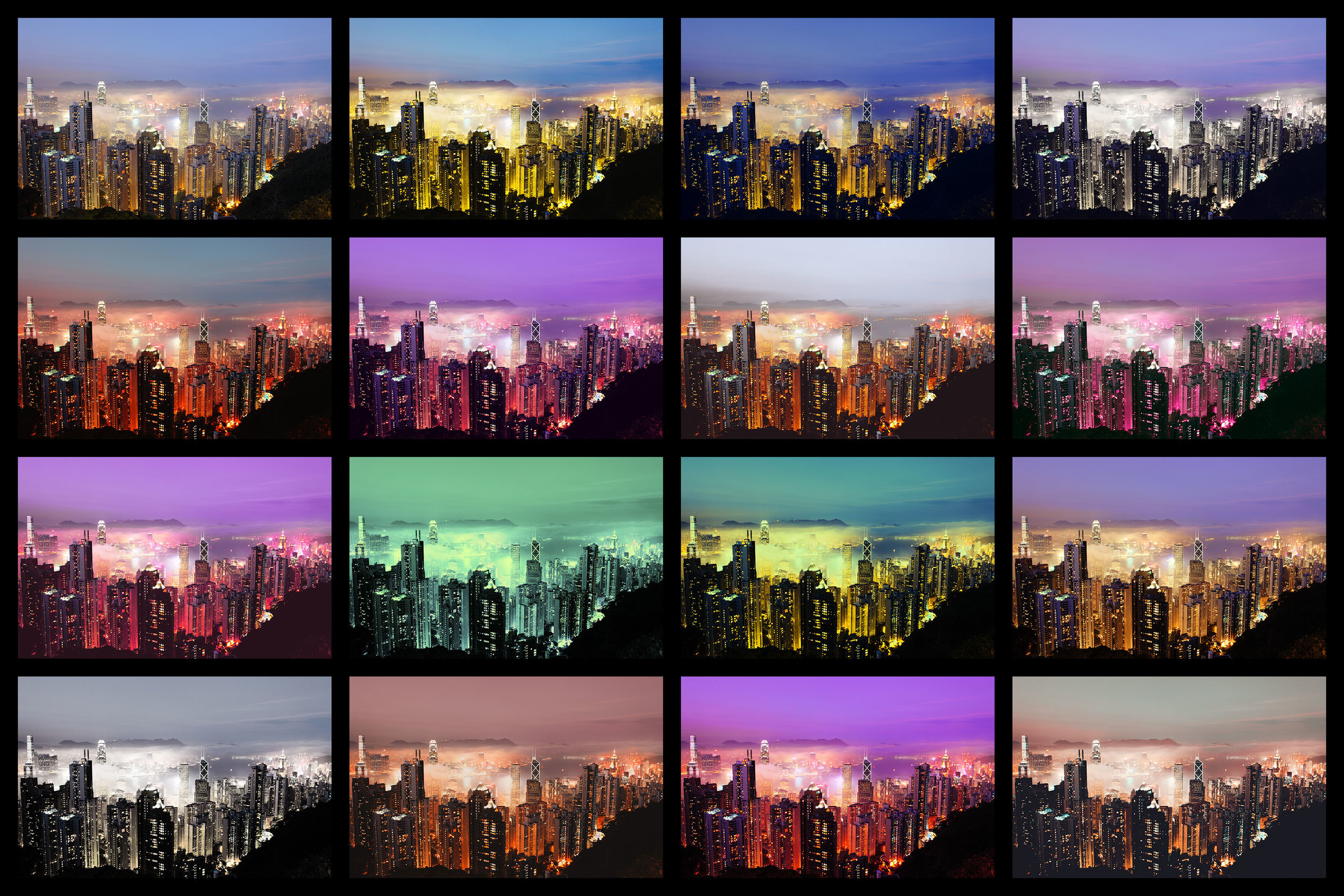 17 styles for night photography. - Choose from 17 abstract color grading that completely transform your nightscapes.