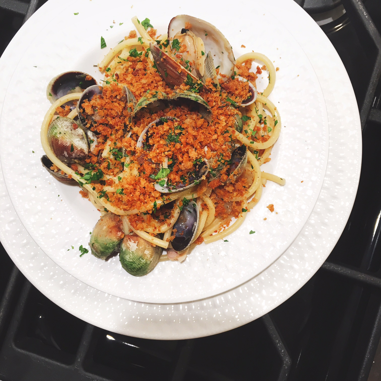Bucatini with clams