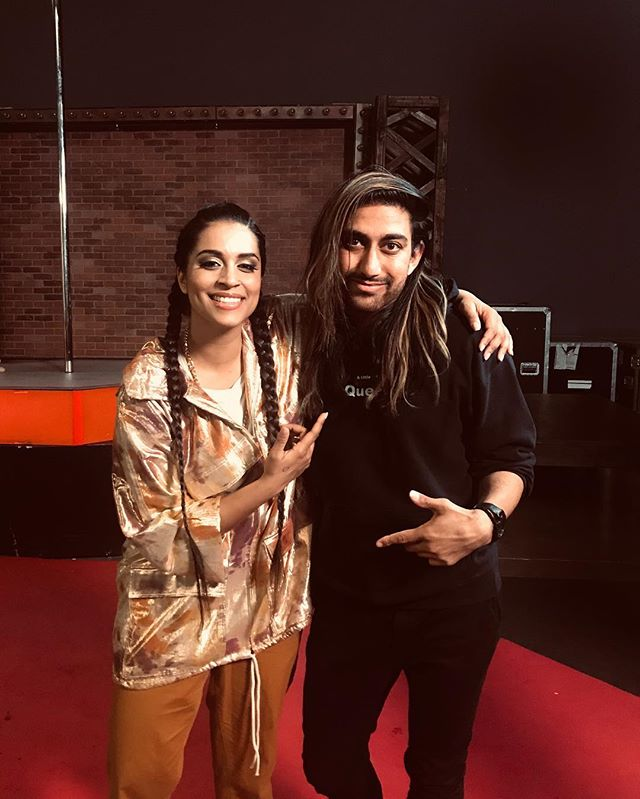 "Soooo this happened! Was on set with Lilly Singh aka @iisuperwomanii !!! You think you know hustle till you meet her! Such an inspiring human, the ""first"" for so many South Asians all over the world! The first major Indian YouTuber!!! And what I related to the most, first queer Indian Female talk show host for late night! Truly an honor to see her work! P.S she's seen some of my videos thanks to @chasinglife 🙏🤪 #superwoman #teamsuper #lillysingh #unicornisland #🌈 #hustle #queer #queerlove #loveislove #chasinglife"