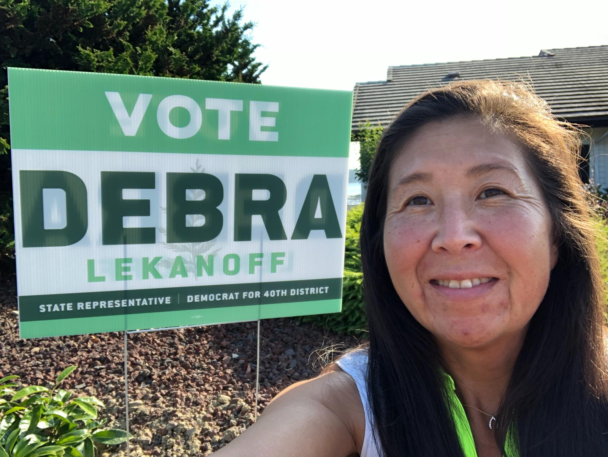 Get a Vote DebraLekanoff Yard Sign! -  Fill out the form below and one of our    volunteers will be in touch.