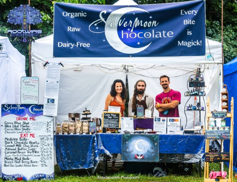 Photo of our team holding down the Silvermoon booth at Rootwire Festival in Ohio!!