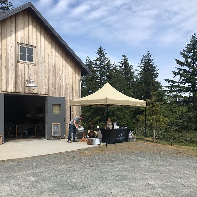 We're running a Doug Fir distillation at the @orcasislandwinery today! Come stop by to enjoy a lovely pour of wine and grab some resin perfume before it's gone! . .  #pnwonderland #pnw #sanjuanislands #makersgonnamake #makersgonnamake #douglasfir #copperstill #organicskincare #orcasisland