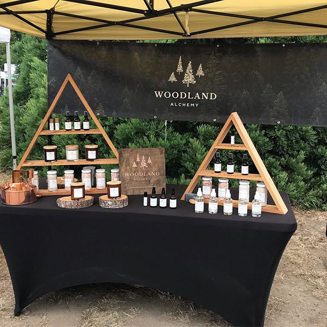 It's a beautiful drizzle today at the #orcasislandfarmersmarket . We are almost out of candles and deep forest oil. Head on over soon if you want to grab one today! . . . #pnwonderland #orcasisland #visitsanjuans #forestbath