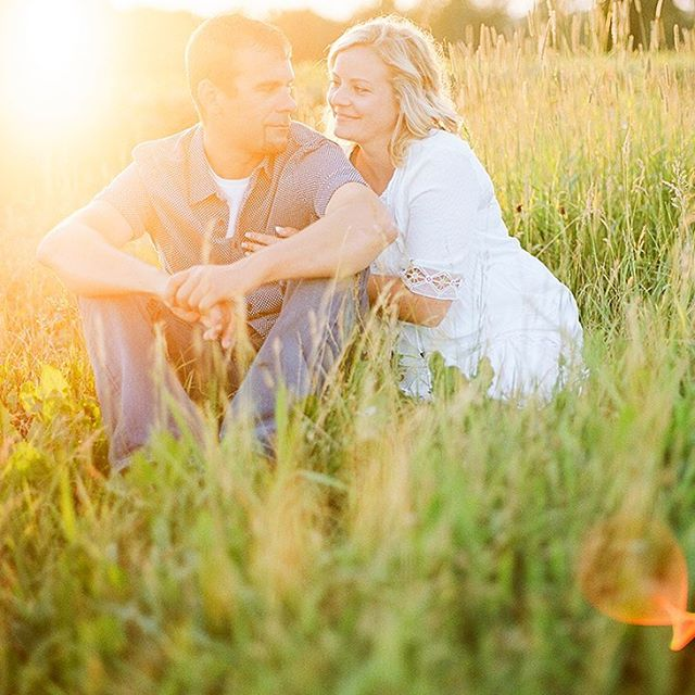 The dreamiest summer night wrapped up in love with Whitney + Kory and their two boys out on the family land... yes please. #katefrankphotography #kodak #film #wibride #engaged