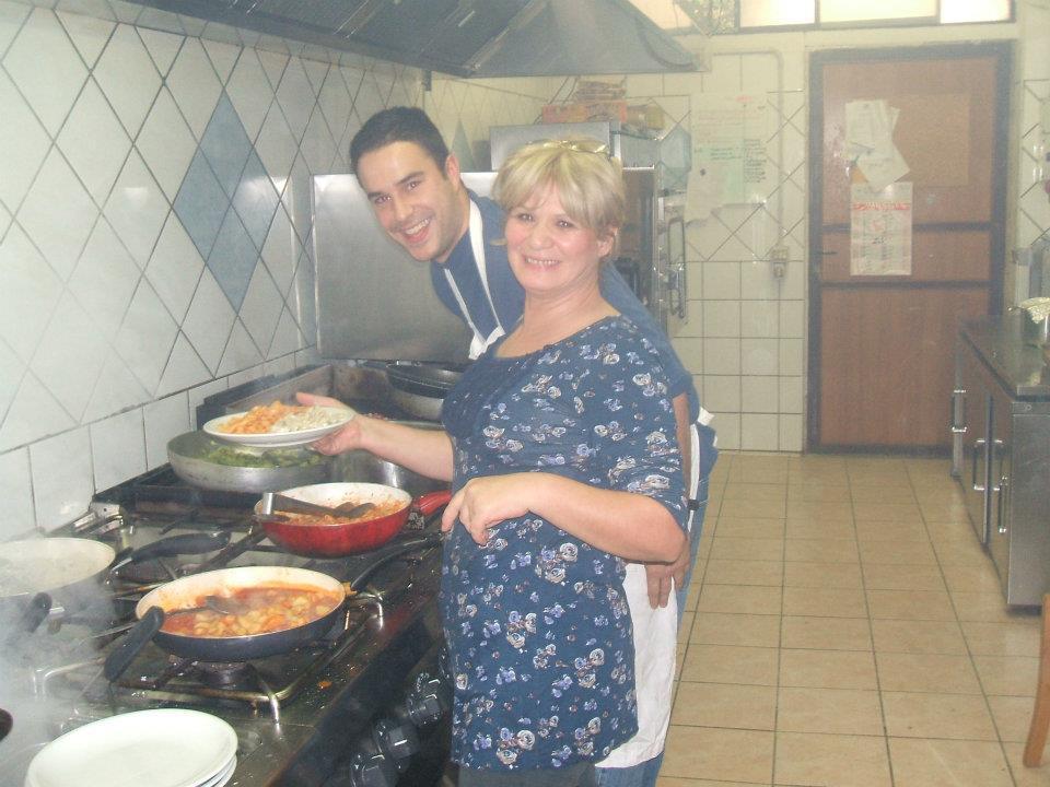 Chef Doar with his pasta mentor, Rita Pasquale