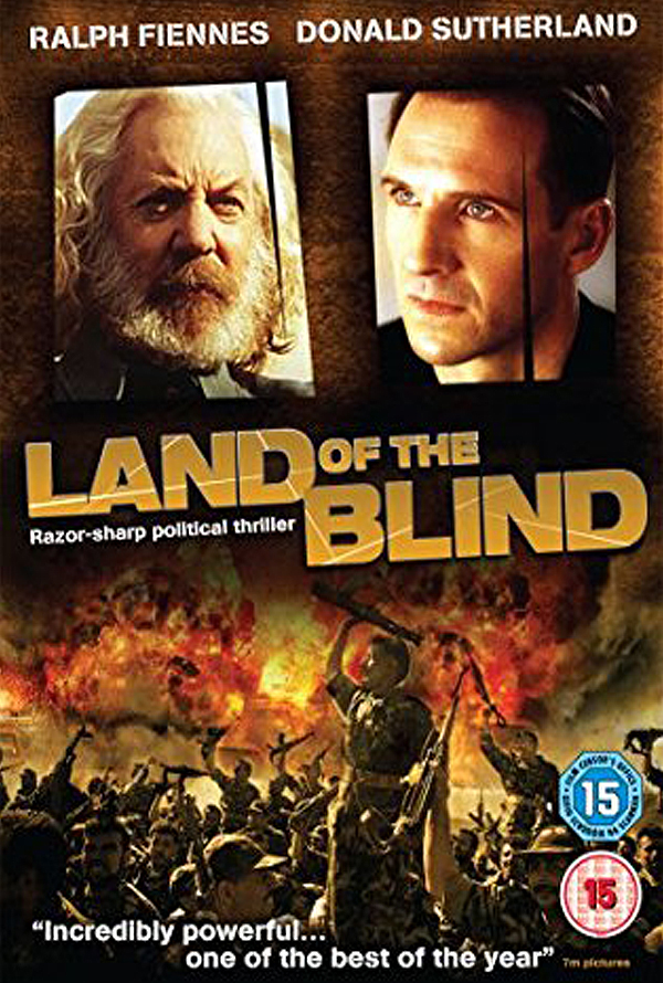 Land of the Blind          Scene with Donald Sutherland.