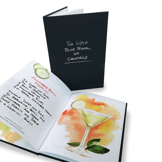 "Wherever you are in the world, enjoying a drink with someone has long been a sign of hospitality. So we asked the experts at Rosewood Hotels & Resorts around the world to create a drink to evoke that — their recipes can be found here, in ""The Little Blue Book of Cocktails"". Try a Cucumber Basil Martini created by Chris Forrest from the Madera Bar at Rosewood Sand Hill.⁠ ⁠ Illustrations by: @marilenaperilli⁠ #rosewoodhotels @rosewoodhotels #RWJourneys #bartender #drinks #beautifulhotels #luxuryhotels #besthotels #hotelsoftheworld#illustration #cocktail #cocktails #cocktailbook #ASclientwork #AgencySacks⁠"