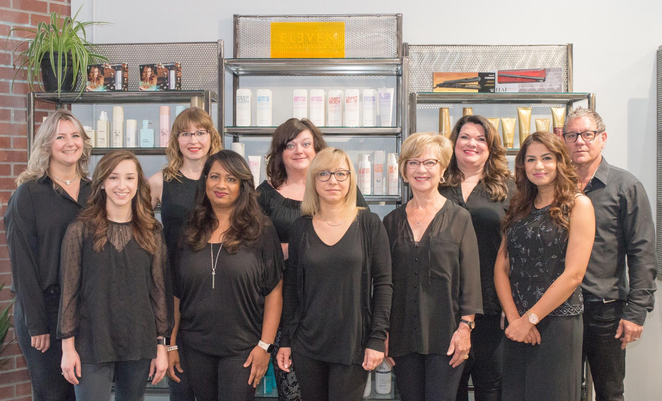 The Crush Family at Work   Left to right: Laila, Shalyn, Jennifer, Bonnie, Tiffany, Tetiana, June, Cathy, Raj, & Brad