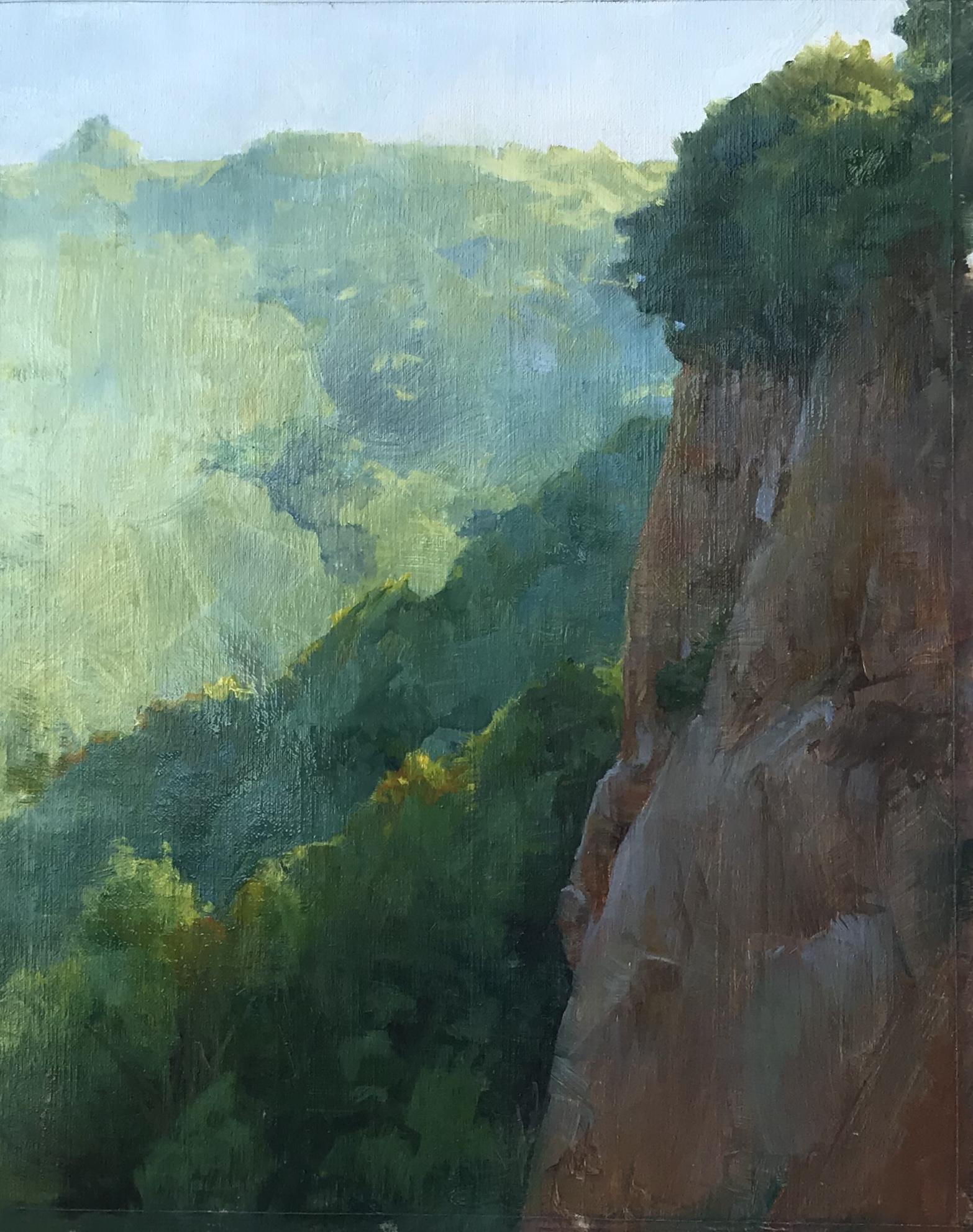 Cliff in Civita