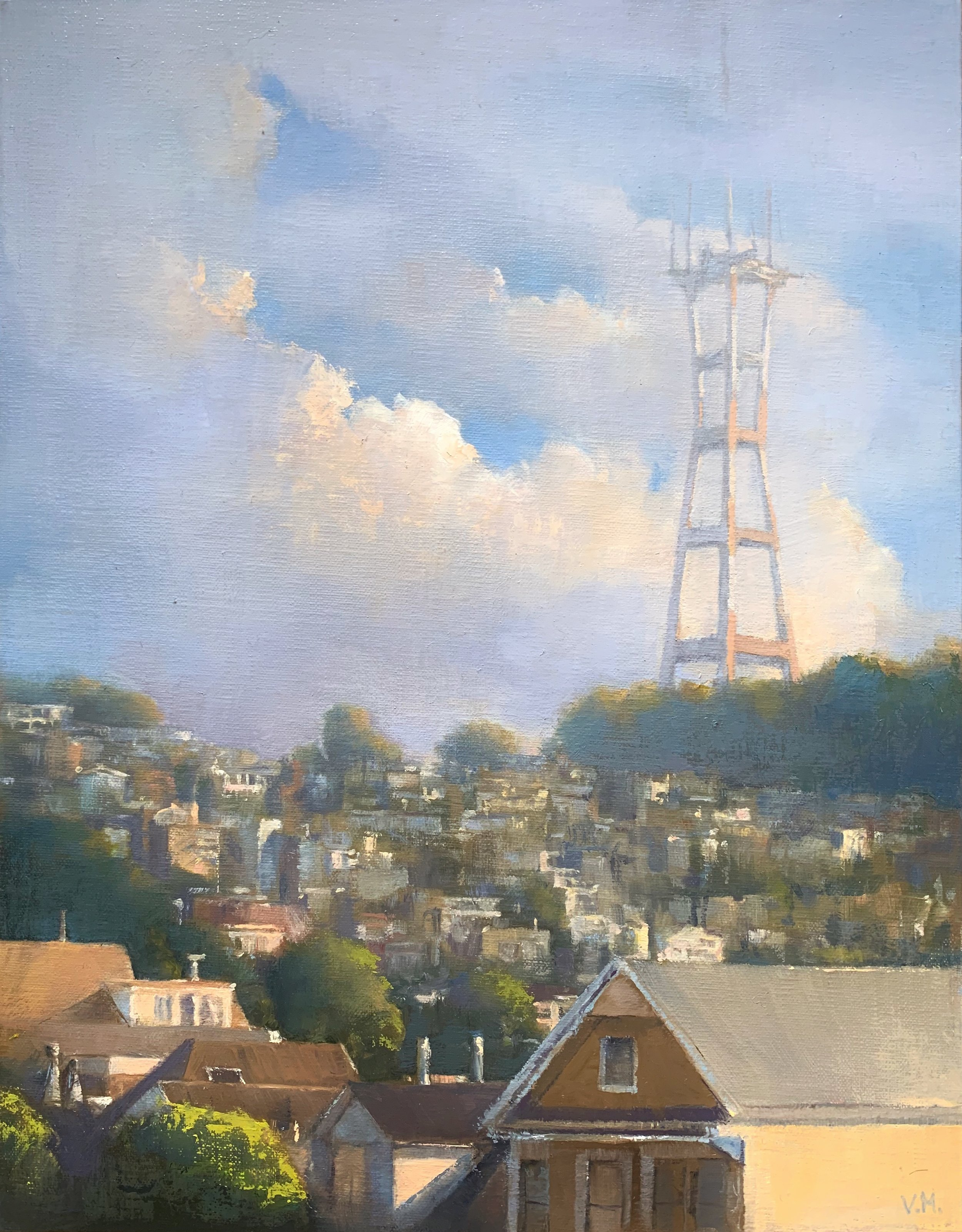 Sutro Tower from Cole Valley