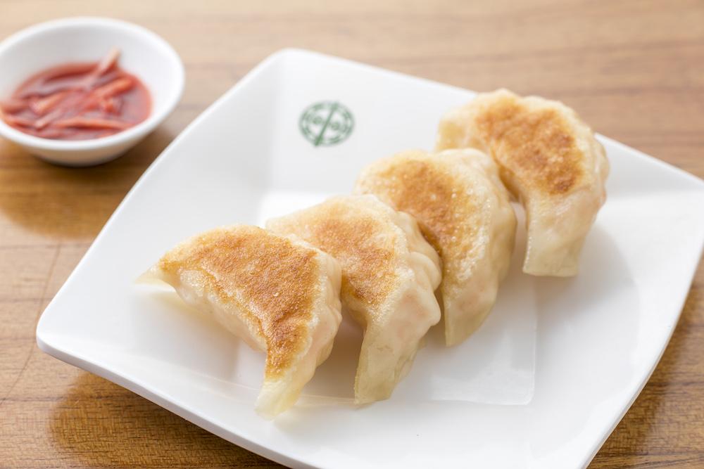 Pan Fried Chicken Dumpling with Ginger Essence