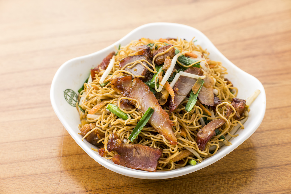 Pan Fried Noodles with Char Siu