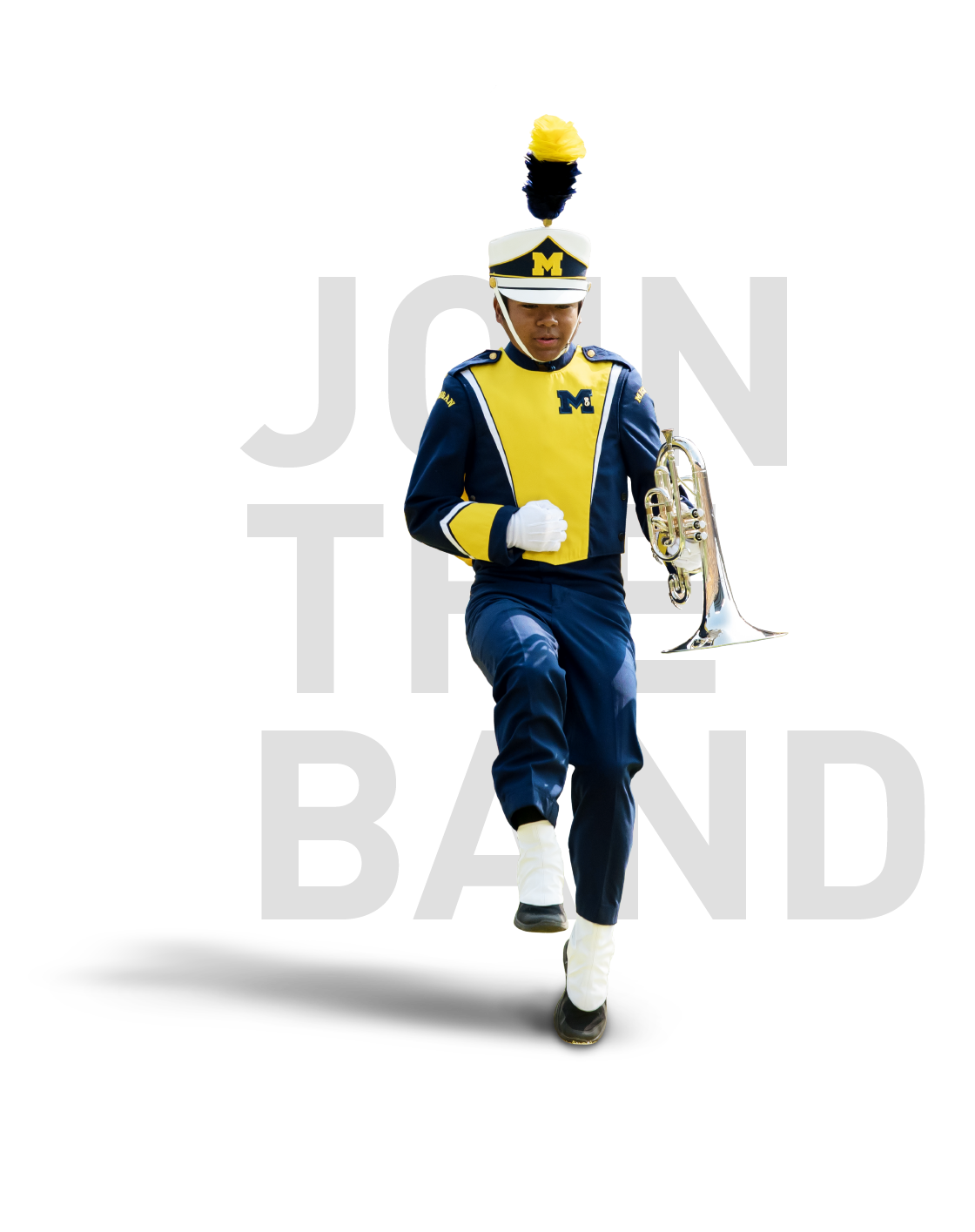 JOIN THE BAND - The Michigan Marching Band is open to all UM students including Dearborn and Flint. If you are a transfer student, current UM student, or incoming freshman you are welcome to audition for the Band.