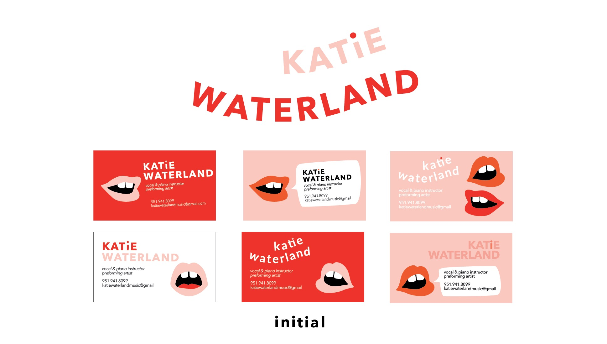 Katie is a good friend of mine-- outgoing, fun, and ridiculously talented. We wanted her brand to be bold, professional, and not a typical music teacher direction.