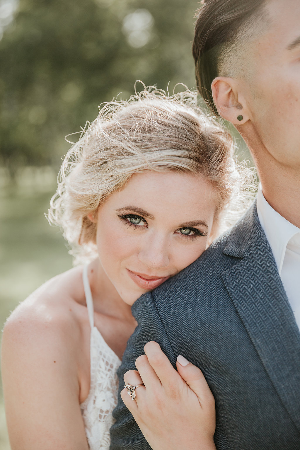 Our bride was obviously stunning. But we couldn't have put her look together without the Bellamore Beauty team, and the incredible dress we borrowed from Blush and Raven.