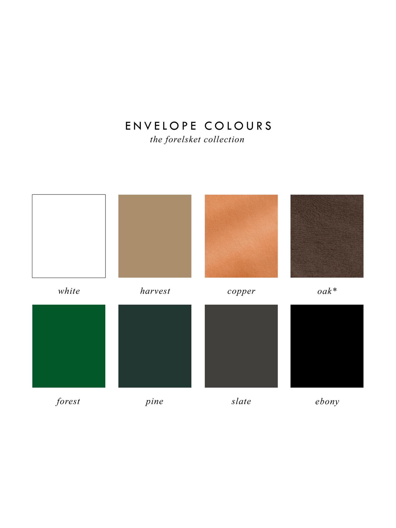 Forelsket Semi Custom Collection - Envelope Colours